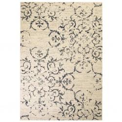 stradeXL Nowoczesny dywan, wzór kwiatowy, 140 x 200 cm, beżowo-niebieski