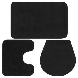 stradeXL 3-częściowy zestaw mat łazienkowych, tkanina, antracytowy