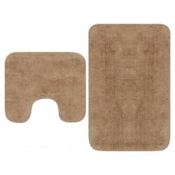 stradeXL 2-częściowy zestaw mat łazienkowych, tkanina, beż