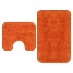 stradeXL 2-częściowy zestaw mat łazienkowych, tkanina, pomarańcz