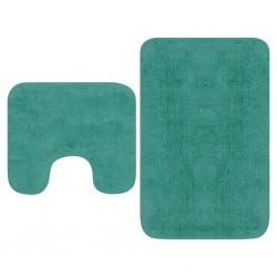 stradeXL 2-częściowy zestaw mat łazienkowych, tkanina, turkus