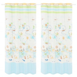 stradeXL Children's Printed Blackout Curtains 2 pcs 140x240cm Travel the World