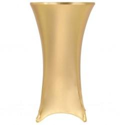 stradeXL Dwa obrusy elastyczne, 80 cm, złote