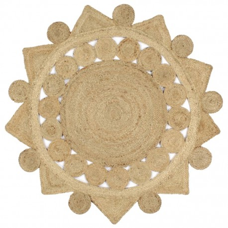 stradeXL Handmade Rug Braided Jute 120 cm