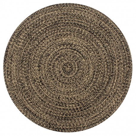 stradeXL Handmade Rug Jute Black and Natural 150 cm