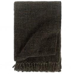 stradeXL Throw Cotton 160x210 cm Anthracite/Brown