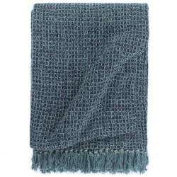 stradeXL Throw Cotton 125x150 cm Indigo Blue