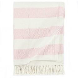 stradeXL Throw Cotton Stripe 125x150 cm Old Pink