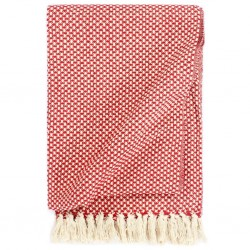 stradeXL Throw Cotton 160x210 cm Red