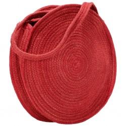 stradeXL Okrągła torebka na ramię, rdzawa, ręcznie robiona, jutowa