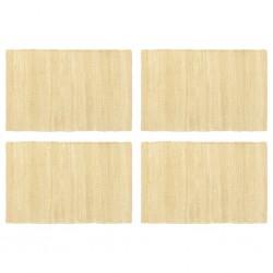 stradeXL Maty na stół, 4 szt, Chindi, gładkie, beżowe, 30x45 cm, bawełna