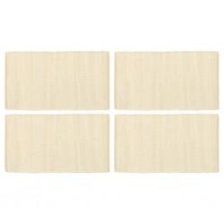 stradeXL Placemats 4 pcs Chindi Plain Cream 30x45 cm Cotton
