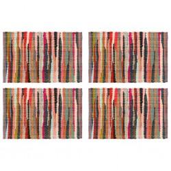 stradeXL Maty na stół, 4 szt., Chindi, gładkie, wielokolorowe, 30x45 cm