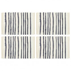 stradeXL Placemats 4 pcs Blue and White 30x45 cm Cotton