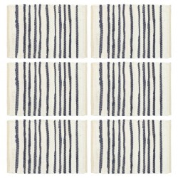 stradeXL Placemats 6 pcs Blue and White 30x45 cm Cotton