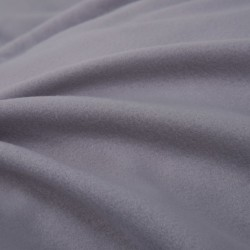 stradeXL Duvet Cover Set Fleece Grey 135x200/80x80 cm
