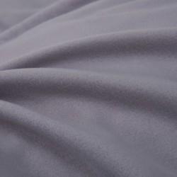 stradeXL Zestaw pościeli, flanelowy, szary, 135x200/80x80 cm