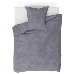 stradeXL Duvet Cover Set Fleece Grey 155x220/80x80 cm