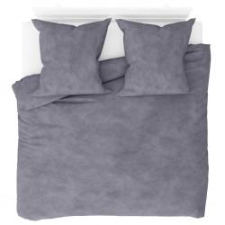 stradeXL Duvet Cover Set Fleece Grey 200x200/80x80 cm