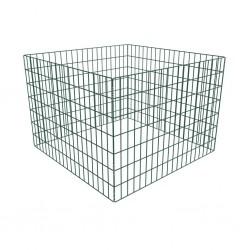 stradeXL Square Mesh Garden Composter 100 x 100 x 70 cm