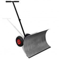 Manual Snow Shovel with Wheels