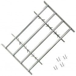 Krata bezpieczeństwa na okno z regulacją 500-650 mm 4 metalowe pręty