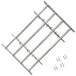 stradeXL Krata na okno z regulacją, 4 metalowe pręty, 1000-1500 mm
