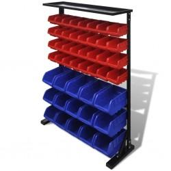 stradeXL Organizer na narzędzia, niebiesko-czerwony