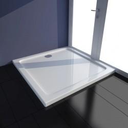 stradeXL Brodzik prysznicowy kwadratowy, ABS, biały, 80 x 80 cm