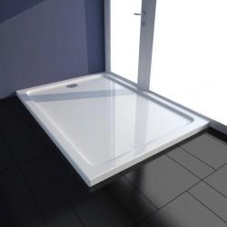 stradeXL Brodzik prysznicowy prostokątny, ABS, biały, 80 x 110 cm