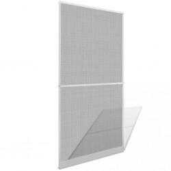 stradeXL Moskitiera na drzwi na zawiasach, biała, 100 x 215 cm