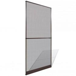 stradeXL Moskitiera na drzwi z brązową ramą, 100 x 215 cm