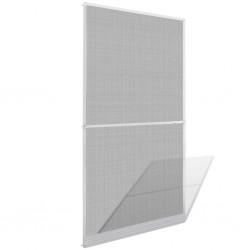stradeXL Moskitiera na drzwi, biała, 120 x 240 cm