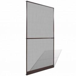 stradeXL Moskitiera na drzwi, brązowa, 120 x 240 cm