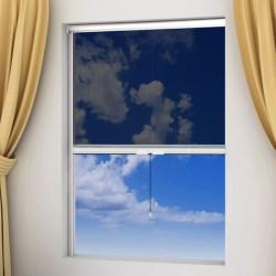 Moskitiera zwijana na okna 60 x 150 cm, biała