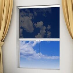 Moskitiera zwijana na okna 120 x 170 cm, biała