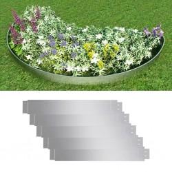 stradeXL Zestaw 5 elastycznych obrzeży ogrodowych, stal, 100 x 15 cm