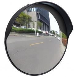 stradeXL Wypukłe lustro drogowe, 30 cm, czarne