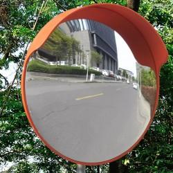 stradeXL Lustro drogowe, 45 cm, plastik, pomarańczowe