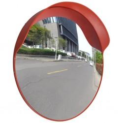 stradeXL Wypukłe lustro drogowe, 60 cm, pomarańczowy, plastik