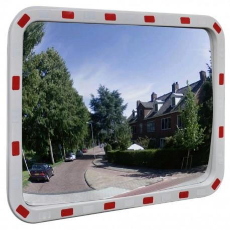 stradeXL Lustro drogowe, prostokątne, 60 x 80 cm, z odblaskową ramą