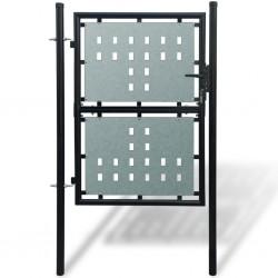Pojedyncza furtka ogrodzeniowa 100 x 175 cm, czarna