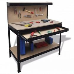 stradeXL Blat roboczy z tablicą na narzędzia i szufladą
