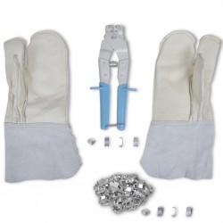 NATO rękawice do drutu kolczastego, aplikator zacisków i 200 spinaczy
