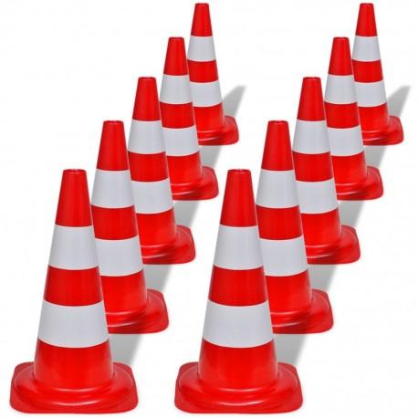 Odblaskowe pachołki drogowe czerwono-białe 50 cm