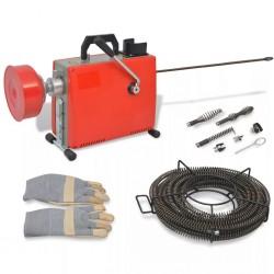 stradeXL Maszyna do czyszczenia rur, 250 W, 15 m x 16 mm 4,5 m x 9,5 mm