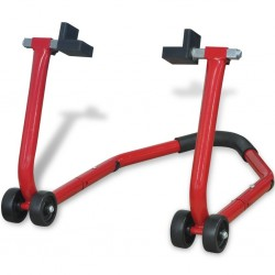 stradeXL Motorcycle Rear Paddock Stand Red