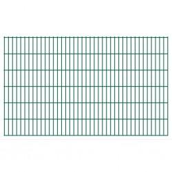 stradeXL Panel ogrodzeniowy 2D, 2,008 x 1,23 m, zielony
