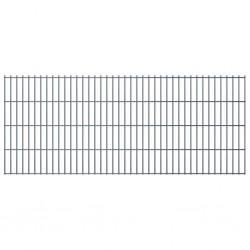 stradeXL Panel ogrodzeniowy 2D, 2,008 x 0,83 m, szary