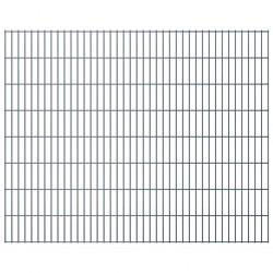 stradeXL Panel ogrodzeniowy 2D, 2,008 x 1,63 m, szary